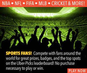 Sports Fans! Play  the UBER GAMES with Fans worldwide.